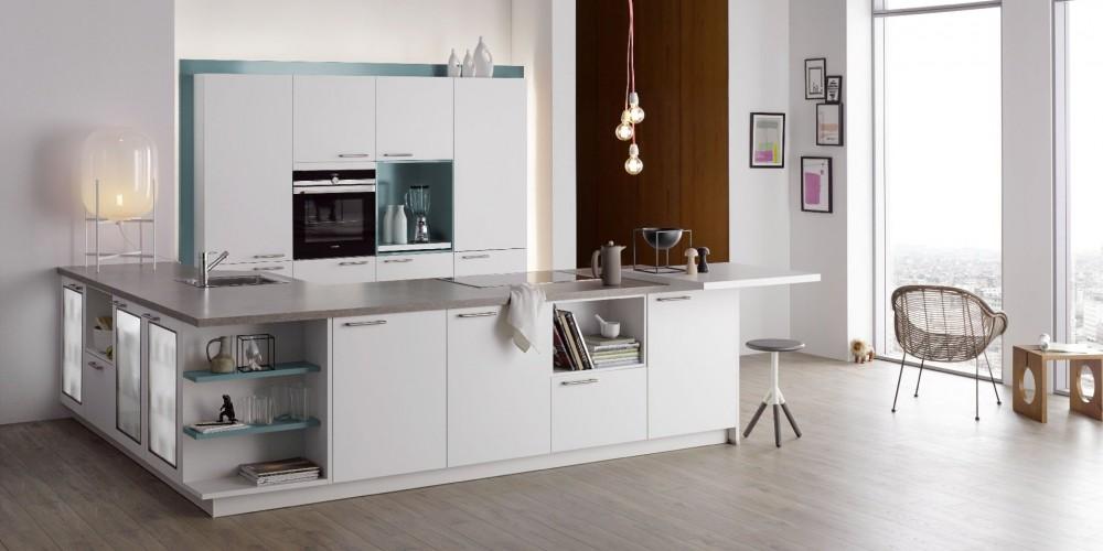 Einbauküchen u form modern  Möbel-Fischer - Sortimente