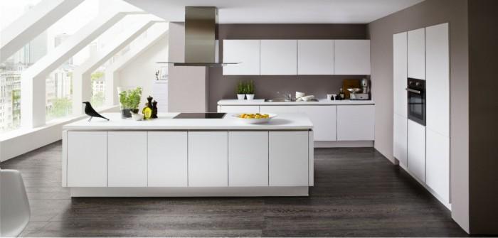 Fesselnd Modell TN15   Einbauküche Premiumweiß, Breite Küchenzeile: 250 Cm, Breite  Einbauschrank: 190 Cm, Breite Kochinsel: Ca. 240 Cm