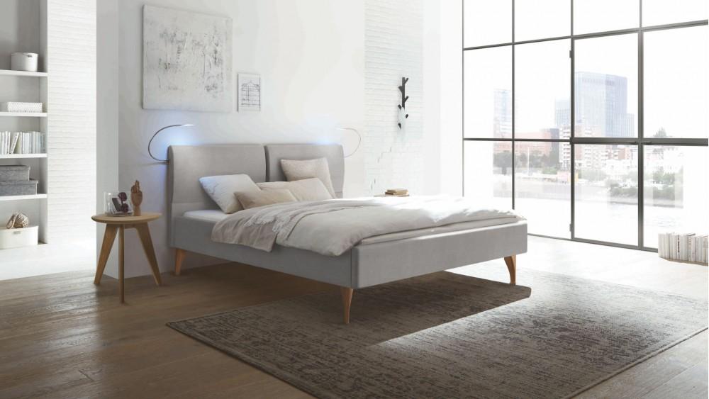 715e32d1c1 Modell TL 2375 - Dieses massive Bett im in Eiche bianco ist der Hingucker  im Schlafzimmer. Dieses Doppelbett mit einer Liegefläche von ca.
